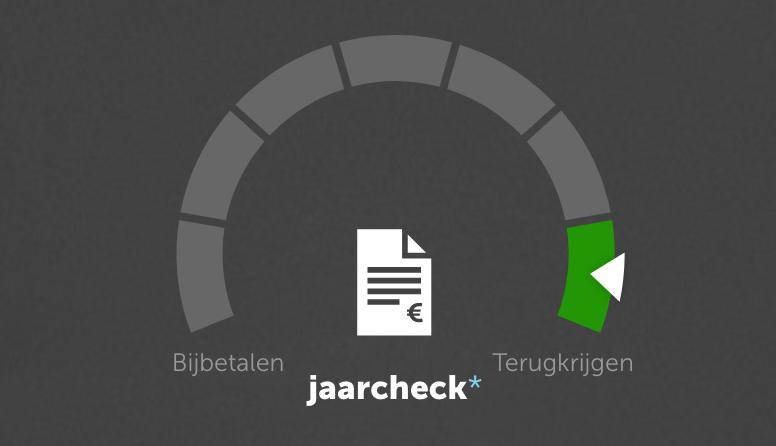 Voorbeeld jaarcheck in de Vrijopnaam-app